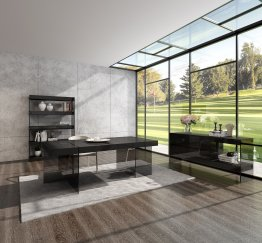 Grey Cloud Modern Dining in High Gloss