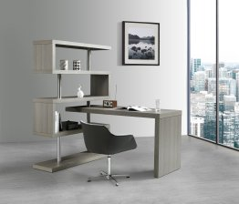 KD002 Modern Office Desk in Matte Grey