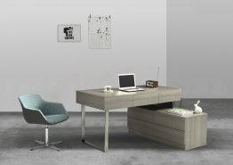 KD12 Modern Office Desk in Matte Grey