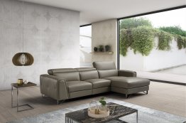 Magic Reclining Leather Sectional