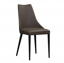 Milano Leather Dining Chair in Chocolate