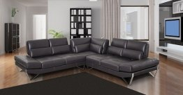 833-2 Special Order Italian Leather Sectional by Nicoletti