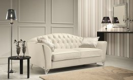 The Divina Leather Sofa Set