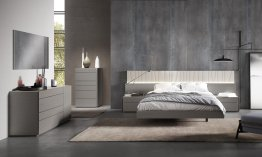 Porto Premium Bedroom Set in Grey