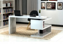 A33 Modern office Desk in Matte White