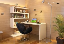 KD002 Modern Office Desk in Matte White