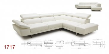 1717 Italian Leather Sectional
