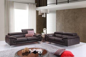 Super A973 Premium Leather Sofa Set In Coffee Inzonedesignstudio Interior Chair Design Inzonedesignstudiocom