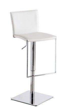 ... C 183B 3 White Leather Barstool ...