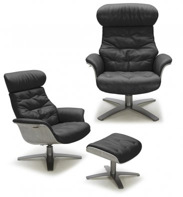 The Karma Lounge Chair in Black