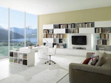 ... S005 Modern Office Desk White High Gloss ...