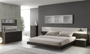 Porto Premium Bedroom Set in Wenge with Light Grey