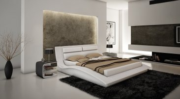 Wave Bed in White