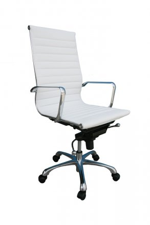 Pleasing Comfy High Back Office Chair In White Caraccident5 Cool Chair Designs And Ideas Caraccident5Info