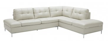 Leonardo Silver Grey Sectional with Storage