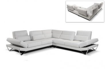 833 Special Order Italian Leather Sectional By Nicoletti
