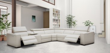 Picasso 6Pc Motion Sectional In Silver Grey