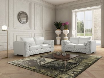The Vanity Leather Sofa Set